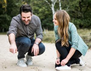 Naturcoaching mit einer Führungskraft und Theresa Hause