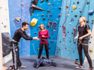 New Work Coaching in der Kletterhalle mit Theresa Hause