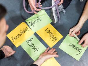 Persönlichkeitsentwicklung und Kommunikationstraining in der Kletterhalle